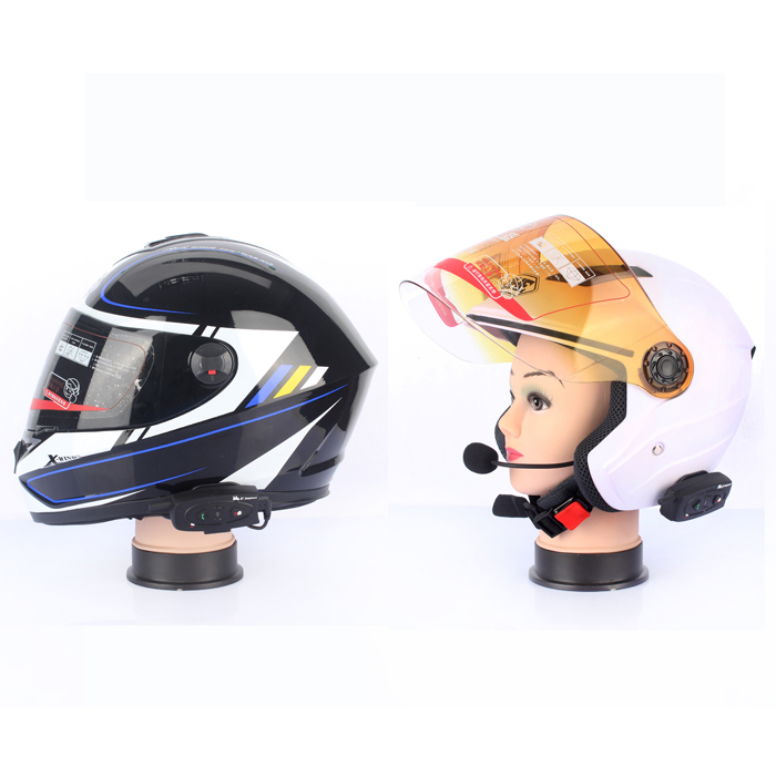 2 Pcs V2 500M Motorcycle Interphone Intercomunicadores De Motos Bluetooth Helmet Headset Intercom For 2 Riders
