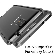 Luxury Bumper For Samung Galaxy Note 3 Aluminium Case For Samsung Note 3 N9000 N9005 Metal Bumper Case Advanced Alloy Frame(China)