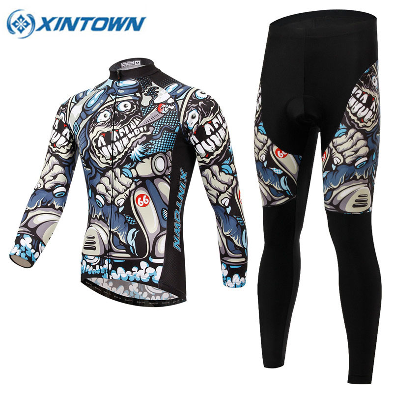 2017 Cool Quick Dry Breathable Cycling Jersey Long Sleeve Summer Spring Mens Shirt Bicycle Wear Racing Tops Cycling Clothing<br><br>Aliexpress