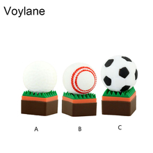 usb flash drive football usb 2.0 stick 4g pen drive golfball memoria flash card 8g baseball pendrive 16g pen drive 32g usb flash