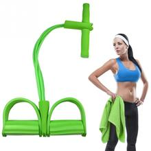 4 Tube Strong Fitness Resistance Bands Latex Pedal Exerciser Women Men Sit Up Pull Ropes yoga fitness equipment tic foot