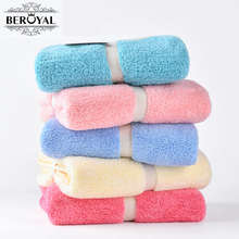 New 2017 Hand Towel - 1piece Microfiber Towel Absorbent Plush Towels Bathroom Magic Travel Towel Super Soft Face Cloth 34*75cm(China)