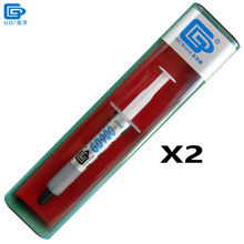 GD Brand Thermal Conductivity Grease Paste Silicone GD900-1 Heat Sink Compound 2 Pieces Containing Silver Net Weight 3 Grams BX3(China)
