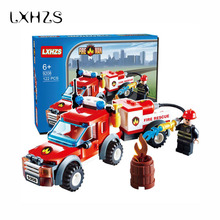 New Arrival 122pcs Transport Fire rescue vehicles Car Compatible with Fire Station Truck Learning School Education Toys Gift