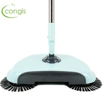 Congis No Electricity Push-type Sweep Floor Robot Aluminum Alloy Pole Magic Broom Floor Hair Paper Lazy Person Cleaning Tool(China)