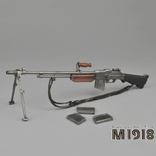 1/6 WWII US Army M1918 BAR Browning Automatic Rifle Gun Model 21cm Collections Soldier Figure Accessory