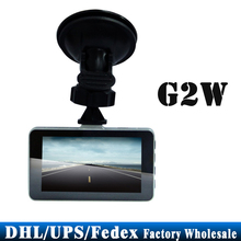 "DHL/Fedex/UPS 30pcs/lot G2W Car DVR HD 3.0"" Night Vision 170 Degree A+ Grade High-resolution Wide Angle Lens Car Camcorder(China)"
