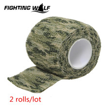 2 Rolls Outdoor Tactical Hunting Bionic Tape Waterproof Camouflage Hunting Gun Accessories for Weapon Rifle Gun Flashlight