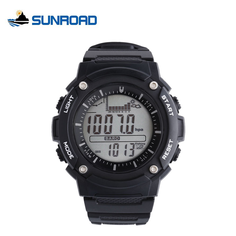 SUNROAD Fishing Watches Weather Forecast Altimeter Barometer Thermometer Altitude Climbing Hiking Sport Digital Mens Watch Reloj<br>
