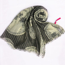 2016 print a great many skull design scarf hijabs muslim gorgeous bandana silk scarf good quality Free shipping Independent pack
