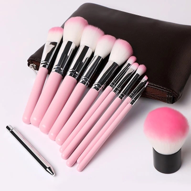 Beauty Essentials Makeup Brush Set Makeup Tool Kit Foundation Foundation Powder Blush Eyeshadow Brush  Face Case For Brush 12PCS<br>