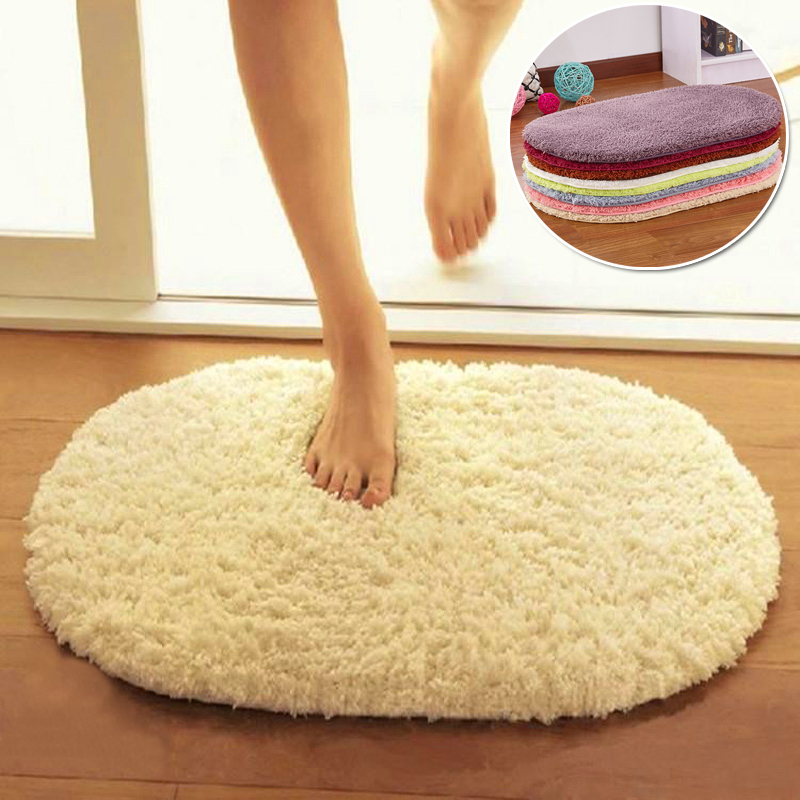 Super Magic Slip-Resistant Pad Soft Room Oval Carpet Floor Tapis Salon Mats 40*60CM