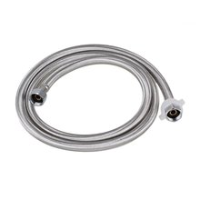 1.5 M 19mm Inner Dia Thread Silver Stainless Steel Braided Hose Washing Machine Connector Water Heaters Toilet Connector(China)