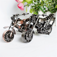 Metal Motorcycle Bronze Model Motorbike Toy Boy Birthday Gifts Vehicles Diecast Crafts Vintage Collection Home Table Decoration
