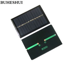 BUHESHUI 0.6W 6V Mini Solar Cell Module DIY Solar Panel System Charger For 3.7v Battery LED Light 100pcs Wholesale Free shipping(China)