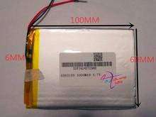 best battery brand Size 6060100 3.7V 3000mah Lithium polymer Battery with Protection Board For Tablet PCs PDA Power Bank