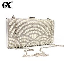 GX Women Clutch Bag Messenger Party Luxury Handbags Women Bags Designer Pearl Shoulder Handbag Evening Clutch Crossbody Bags
