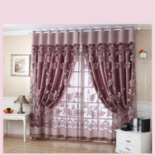 New Semi Shade Curtains Purple Rich Flowers Pattern Curtains Tulle Voile Door Window Curtain Drape Panel Sheer EP221
