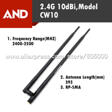 Free Shipping New 2.4G 10dBi Wifi Antenna,Wireless Router Antenna,37CM,2400-2500MHz,RP-SMA Connector  1pcs
