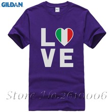 I Love Italy - Italian Patriot Flag Of Italy Cool T-Shirt Gift Idea(China)