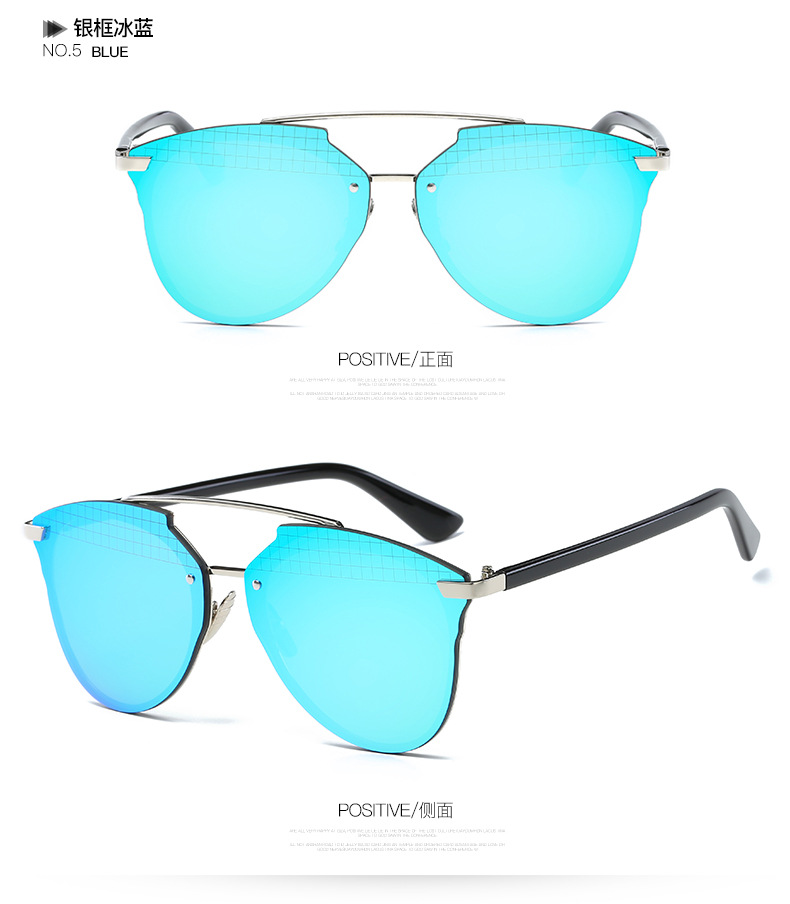 Juanbo 2017 New retro trend metal color film sunglasses Europe the Us fashion ladies and men glass