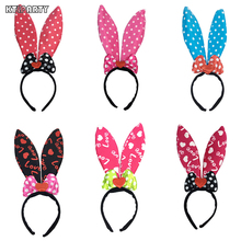 KTLPARTY Love dot bow style 40cm big bunny ear headband Minnie mouse hairband for children and adult(China)