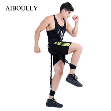 Crossfit Leg Fitness Resistance Bands Workout Rope for Basketball Football Tennis Running Jump Leg Strength Agility Training(China)