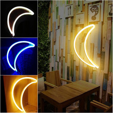 Moon Shape Wall Light Hanging Lights USB LED Lamp For Home Hotel Bedroom Store Decoration Night Light Decorative Home Lighting