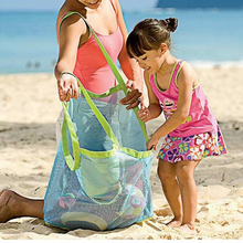 Applied Enduring Children Sand Away Beach Mesh Bag Children Beach Toys Clothes Towel Bag Baby Toy Collection Nappy Storage Bags(China)