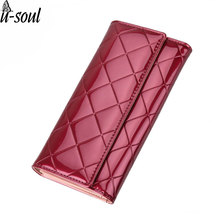 Women Wallets Brand Designer Party Long Clutch Purse Lady Plaid Wallet Female Card Holder Purses Women Carteira Purse SC0483(China)