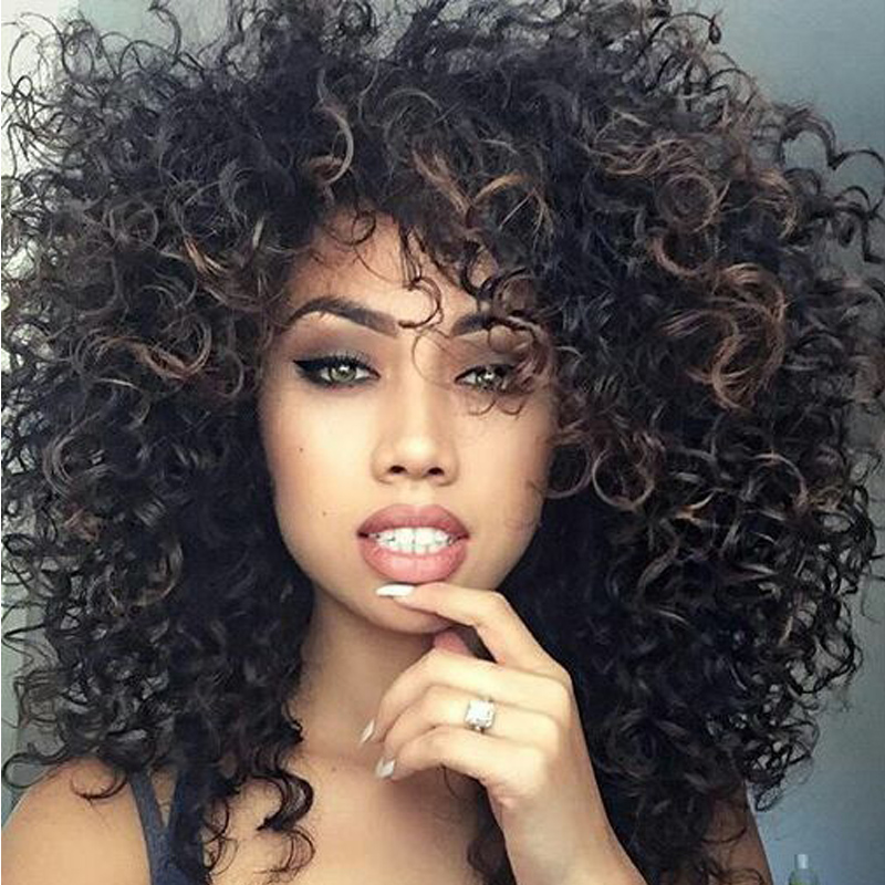 Short Wigs for Black Women 14 Cheap Wigs Kinky Curly Synthetic Wigs Afro African American Short Perucas Para Mulheres Negras   <br><br>Aliexpress