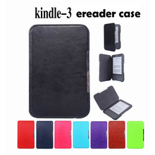 kindle 3 3rd generation cover case for Amazon kindle 3 keyboard kindle 3 Pu leather case