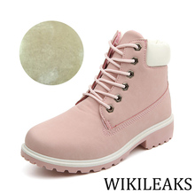 Designer PU Leather Platform Winter Faux Fur Boots Sexy Ankle Boots For Women Snow Booties Lace Up Velvet Boot Chunky Heel WC007
