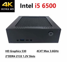 8G RAM 128G SSD Mini pc With Intel i5 6500 4C4T Max 3.6GHz, 4K Intel HD Graphics 530, 2*DDR4 2133 1.2V Slots, Windows 10Pro HTPC