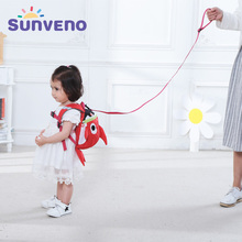 SUNVENO Cartoon Baby Harness Toddler Safety Backpack Anti-lost Strap Walking Backbag Child Safety Wristbands Walking Wings(China)