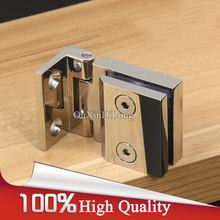 High Quality 4PCS 304 Stainless Steel Cabinet Hinges Wine / Display Cabinet Glass Door Hinges Soft&Smoothly Glass Cabinet Hinges(China)