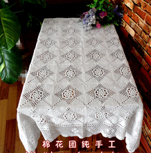 Christmas essential Hand Crochet Tablecloths Cotton Table cloth Sofa towel Home Paino Cover cloth Coffee Doilies(China)