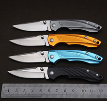 MARS MADAM 23 Grams 415N Steel Pocket Knife Small Folding Knives Survival Tactical Knife Aluminium Handle Yellow