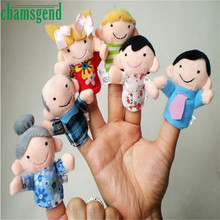 CHAMSGE 6pcs Finger Hand Puppets Plush Toys For Kids Family Finger Gloves puppets baby toys reborn dolls Education Toy Gift Oct1