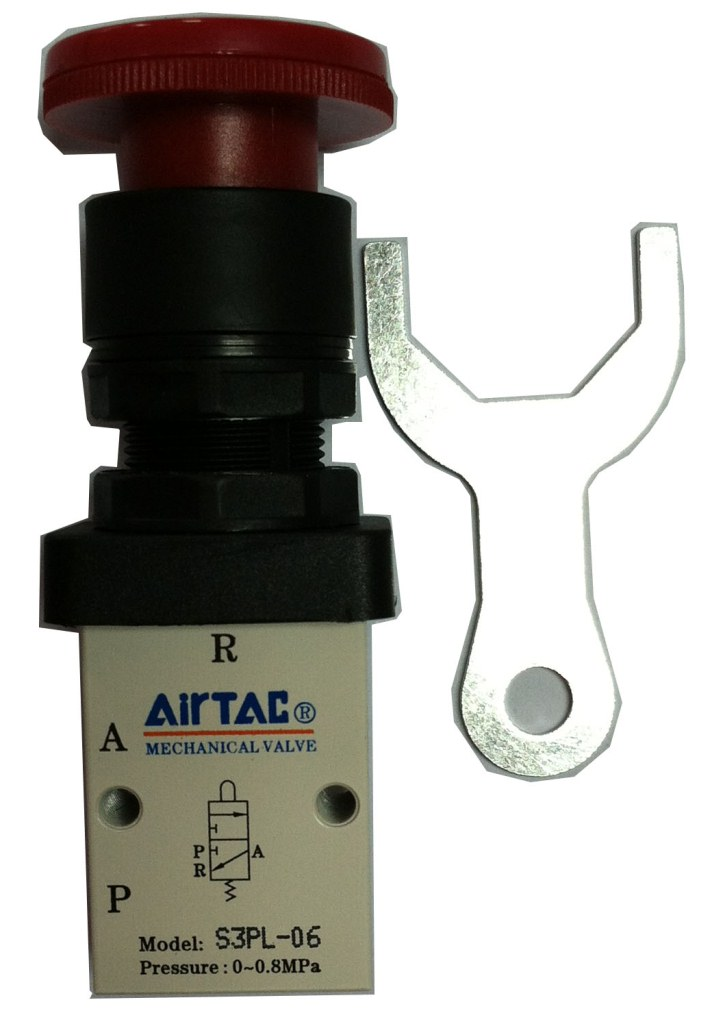 Supply AirTac genuine original mechanical valve S3PL-06.<br>