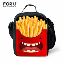 FORUDESIGNS Brand Lunch Bag Portable Lunch Carry Storage Bag Case for Boys Girls,High Quality Lunch Box Bag Smile Face Printing