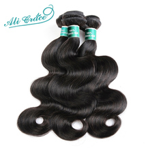 ALI GRACE Hair Brazilian Body Wave Hair 3 Bundles 100% Remy Human Hair Full Cuticle Aligned Human Hair Weaves Tangle Free (China)