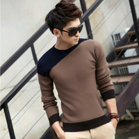 2016 Autumn and winter brand sweater men , new men's o-neck pullover sweater men, hot sale fashion mens sweaters