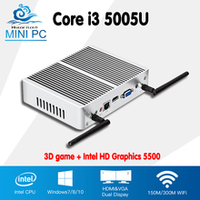 Hly 2016 New Core i3 5005u Barebone Mini PC windows7 Dual Core USB3.0 WIFI Mini Computer Desktop HTPC TV box