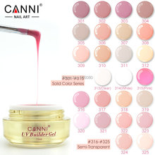 #50951  CANNI new nail art  design 25 colors semi and solid transparent color camouflage jelly color uv builder extend nail gels