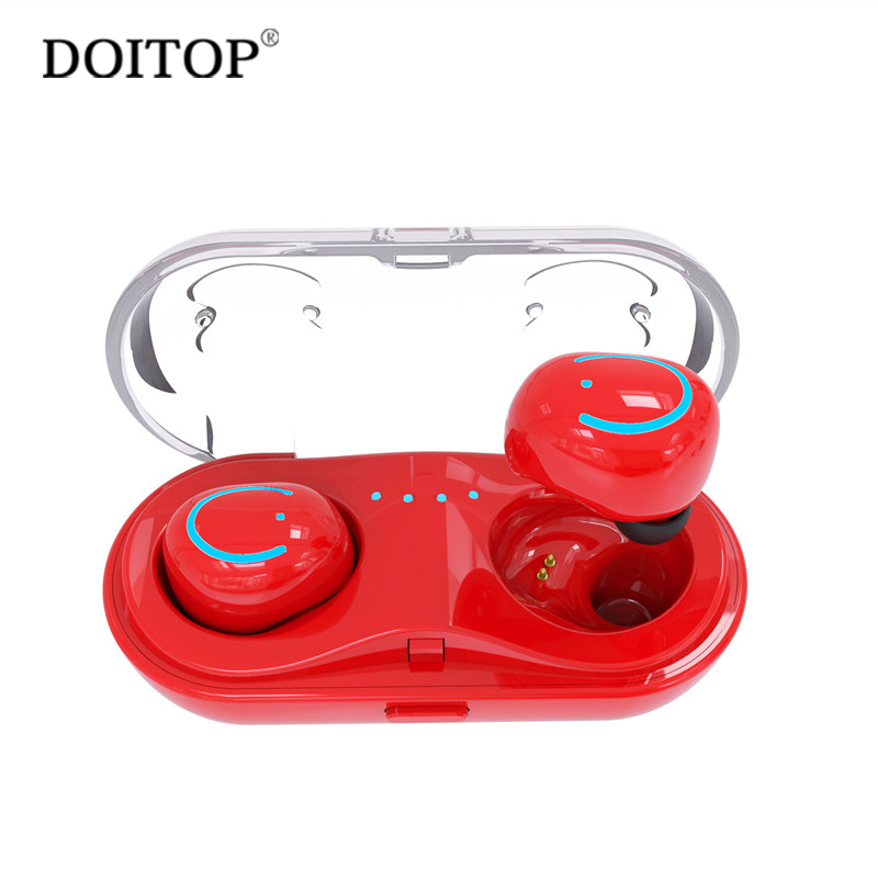 DOITOP Q18 Mini Wireless Bluetooth Earbud TWS Binaural Headsets Earphones HiFI In-ear 5h Play time Dual Earbuds + Charging Box <br>