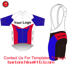 Custom Cycling Jersey And BIB Shorts Summer Set DIY Bicycle Wear Polyester + LyCra Any Color Any Size Any Design Free shipping(China)