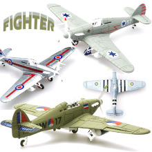 1Pcs  Random Color 1/48 Assemble Simulation Fighter Model Toys Building Tool Sets Aircraft Diecast War-II Hurricane Fighter(China)