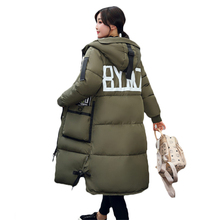 2017 Winter New Hooded Cotton Jackets Women Korean Loose Padded Down Jacket Casual Warm Outerwear Military Long Parkas Coat Z79(China)