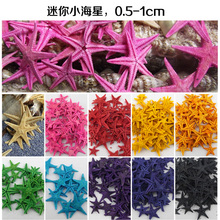150pcs Natural conch shell 8 Colors Natural Sea Star Wishing Bottle Starfish DIY 1-2.5cm small shell adrift accessories mini